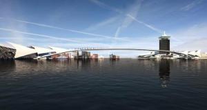 brug over het IJ